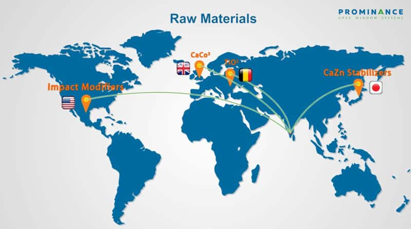 uPVC Windows Raw material sourced from Fortune 500 companies.