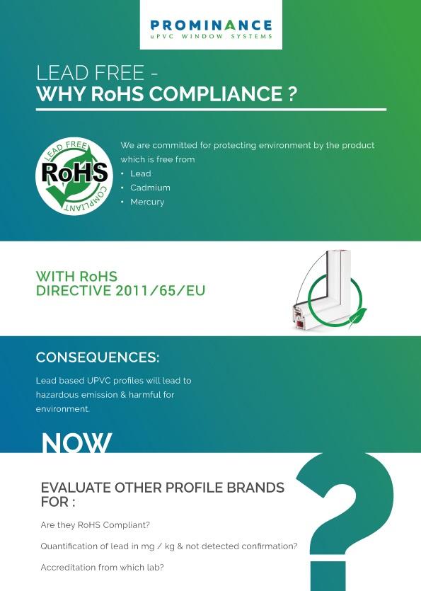 RoHS Compiant lead Free uPVC Window profiles