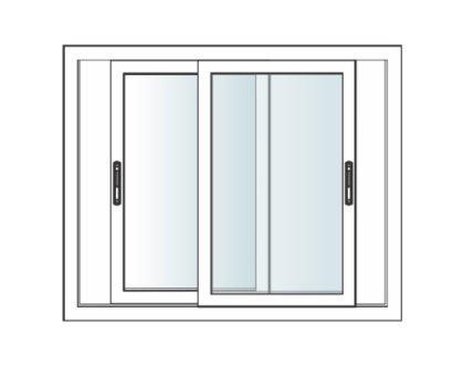 Prominance sliding upvc windows 2 frames